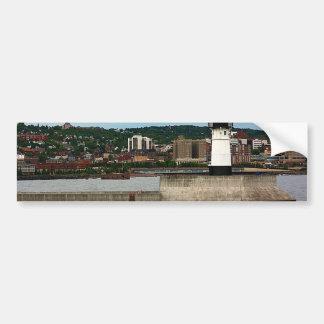Faro en parque del canal pegatina de parachoque