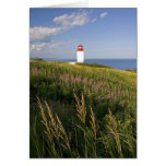 Faro en St Martins, Nuevo Brunswick, 2 Tarjeta De Felicitación