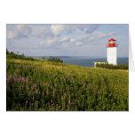 Faro en St Martins, Nuevo Brunswick, Tarjeta De Felicitación