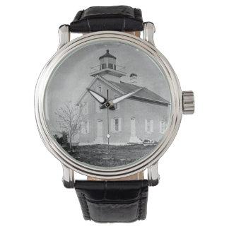 Faro experimental de la isla relojes de pulsera