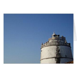 Faro Goa la India de Aguada del fuerte Tarjeta De Felicitación