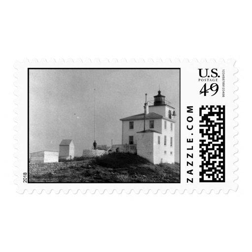 Faro holandés de la isla timbre postal