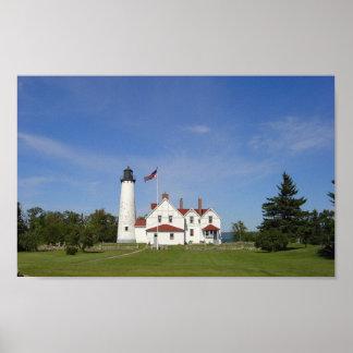 Faro Iroquois del punto Michigan Impresiones