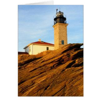 Faro Jamestown Rhode Island de Beavertail Tarjeta De Felicitación