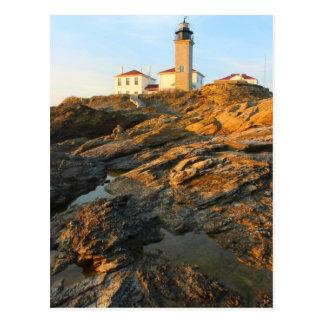 Faro Jamestown Rhode Island de Beavertail Tarjeta Postal