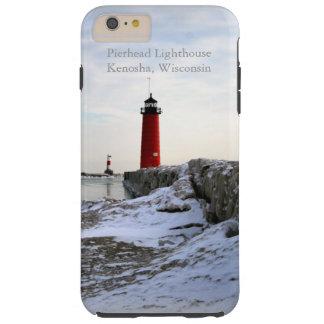 Faro Kenosha, Wisconsin de Pierhead Funda Resistente iPhone 6 Plus