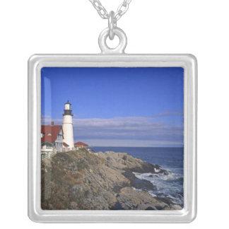 Faro ligero principal Maine de Portland Colgante Cuadrado
