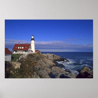 Faro ligero principal Maine de Portland Posters
