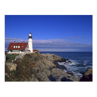 Faro ligero principal Maine de Portland Postales