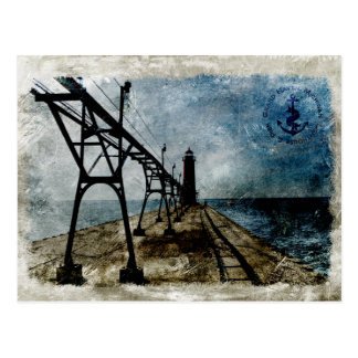Faro magnífico del asilo del vintage tarjetas postales