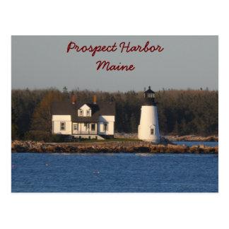 Faro Maine del puerto de la perspectiva Tarjetas Postales