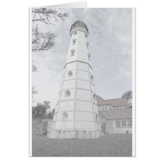Faro Milwaukee - bosquejo de North Point del lápiz Tarjeton