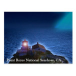 Faro nacional CA Postca de la costa de Reyes del p Postal
