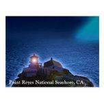 Faro nacional CA Postca de la costa de Reyes del Tarjeta Postal