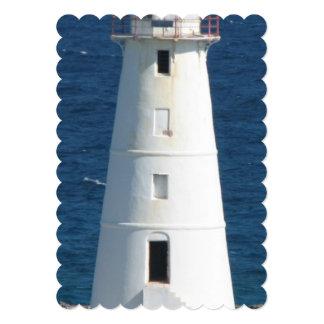 """Faro náutico invitación 5"""" x 7"""""""