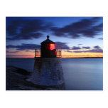 Faro Newport Rhode Island de la colina del castill Postales
