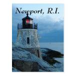 Faro Newport, tarjeta de la colina del castillo de Postales