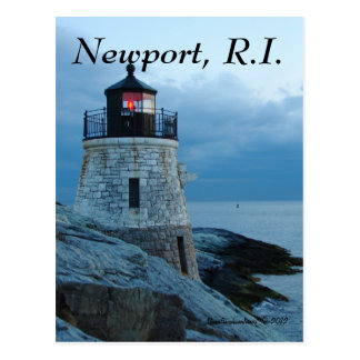 Faro Newport tarjeta de la colina del castillo de Postales
