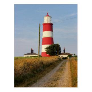 Faro Norfolk del norte de Happisburgh Tarjetas Postales