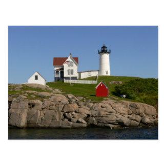 Faro Nueva Inglaterra de las protuberancias pequeñ Postales