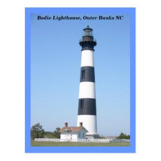 Faro OBX Carolina del Norte de la isla de Bodie Tarjeta Postal