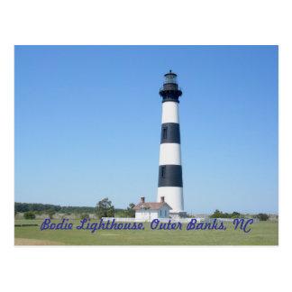 Faro OBX Carolina del Norte de la isla de Bodie Tarjetas Postales