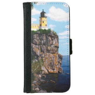 Faro partido de la roca funda cartera para iPhone 6