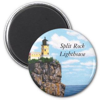 Faro partido de la roca imanes para frigoríficos