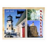 Faro partido de la roca, Minnesota (multiview) Tarjeta Postal