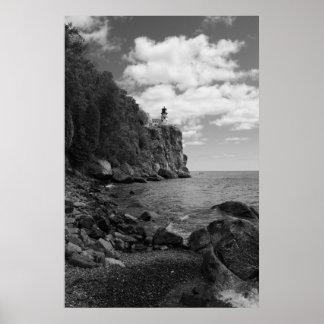 Faro partido de la roca impresiones