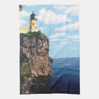 Faro partido de la roca toallas de mano