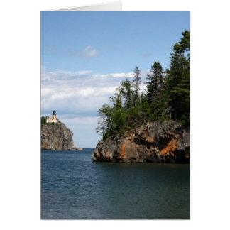 Faro partido de la roca tarjeta de felicitación