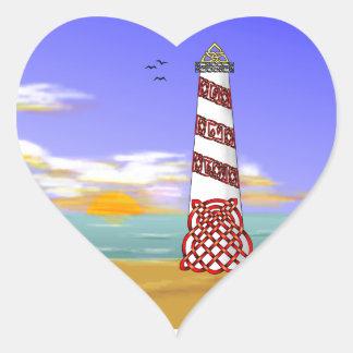 Faro Pegatina En Forma De Corazón