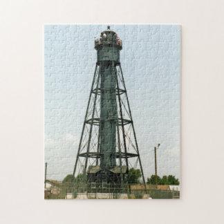 Faro posterior de la gama de Tinicum, New Jersey Puzzle Con Fotos