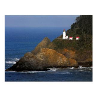 Faro principal de Heceta, cala del cabo, Oregon, Tarjeta Postal