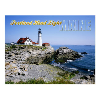 Faro principal de Portland, cabo Elizabeth, Maine Tarjeta Postal