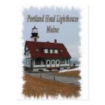 Faro principal de Portland - Maine Tarjetas Postales