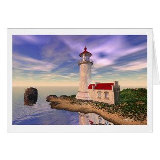 Faro principal del norte - mañana de la gloria tarjeta de felicitación