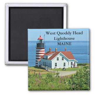 Faro principal del oeste de Quoddy, imán de Maine