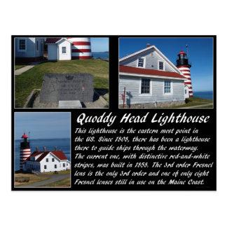 Faro principal del oeste de Quoddy Tarjetas Postales