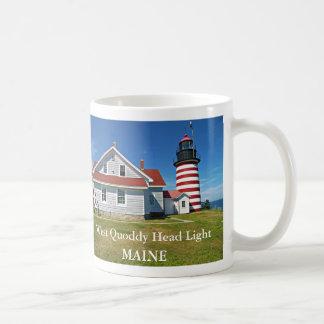 Faro principal del oeste de Quoddy taza de Maine