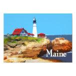 Faro principal Maine de Portland Invitación 12,7 X 17,8 Cm