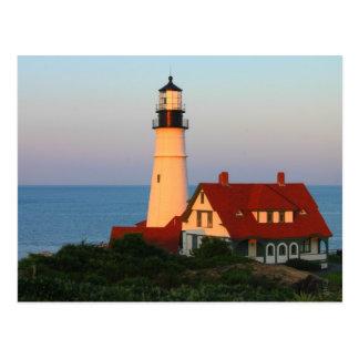 Faro principal Maine de Portland Tarjetas Postales