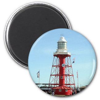 Faro, puerto Adelaide, Australia Imán Redondo 5 Cm