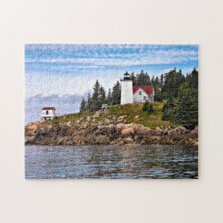 Faro quemado del puerto de la capa, isla de cisnes rompecabezas