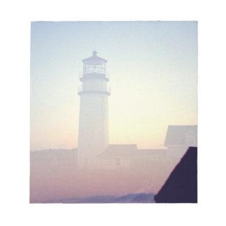 Faro, recordatorio pegajoso de la libreta blocs
