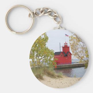 Faro rojo grande llaveros personalizados