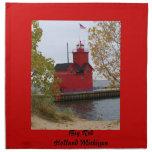 Faro rojo grande servilleta