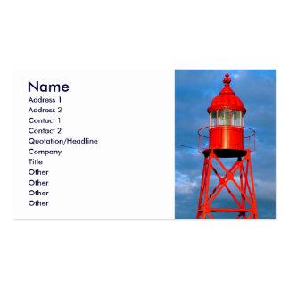 Faro rojo tarjetas de visita