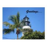 faro, saludos…. tarjeta postal
